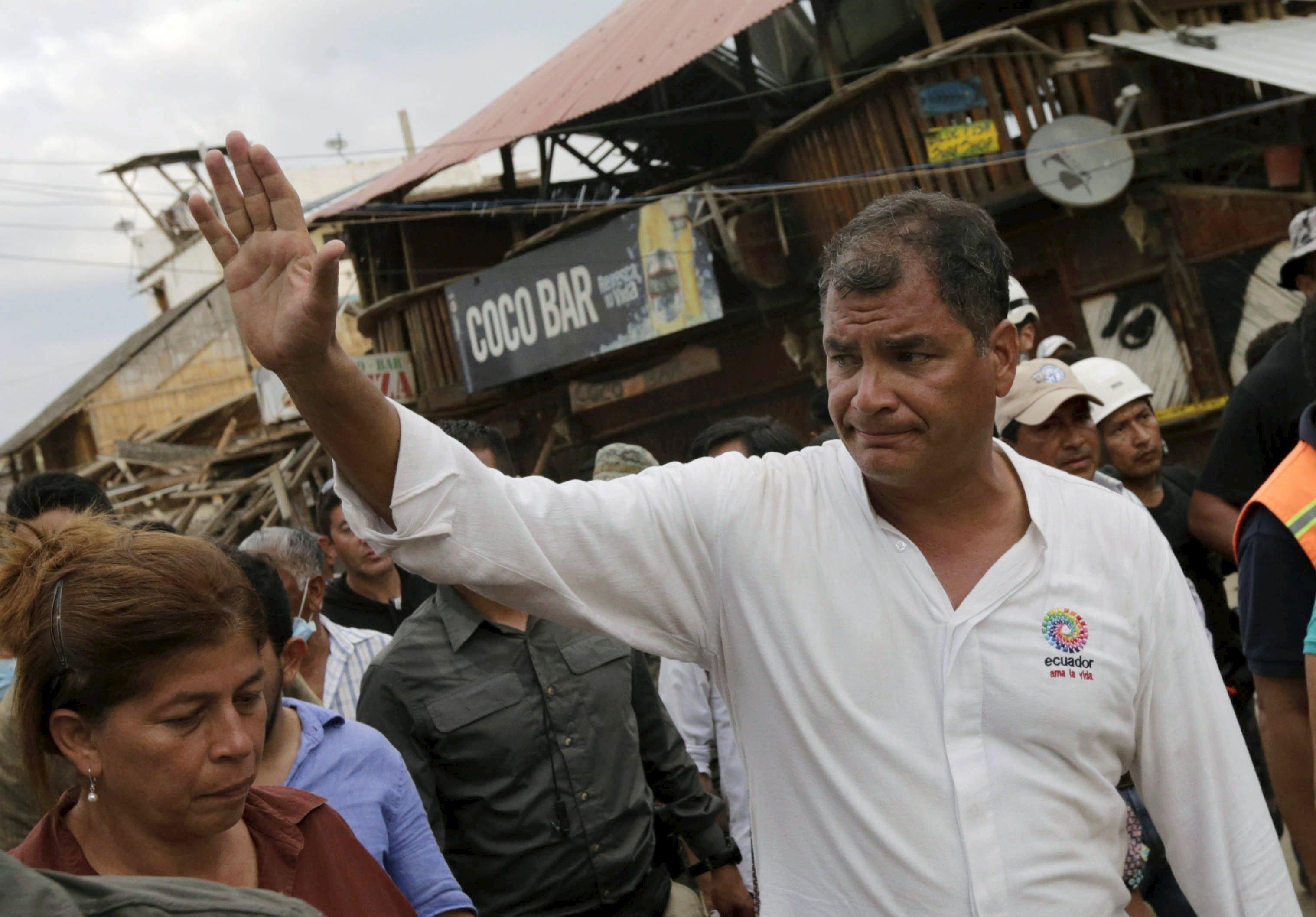 에콰도르 강진 라파엘 코레아 대통령